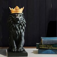 摆件饰品家居创意客厅酒柜电视柜装饰皇冠狮子工艺品结婚礼品
