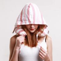 连帽乳胶u型枕 颈椎枕飞机旅行u形枕脖子乳胶颗粒枕头 粉红色