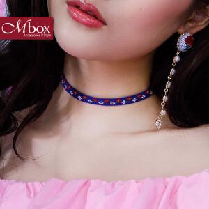 新年礼物Mbox项链 女韩国版原创采用波西米亚风choker锁骨项链颈链 小碎花