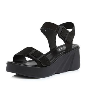 Belle/百丽2018夏季新款专柜同款磨砂牛皮革厚底女皮凉鞋BQL33BL8