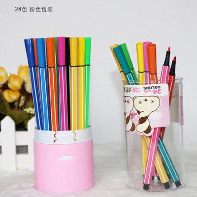慧眼36色水彩笔儿童幼儿园彩色笔画画笔可水洗涂鸦彩笔套装彩笔_24色