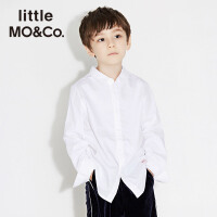 littlemoco中大童男女童长袖翻领纯棉纯色衬衫KA171SHT102 moco