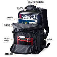 男士双肩包商务休闲电脑帆布书包旅游旅行包简约时尚潮流背包