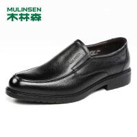 木林森男鞋2018秋季新款商务休闲皮鞋 87053027