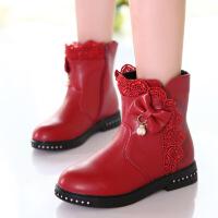 女童靴子棉鞋2018新款冬季短靴韩版中大童公主靴子单靴儿童马丁靴