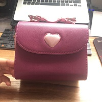 拍立得mini8 9 25 50s 70 90 SQ10相机包皮包横跨背包含背带 紫色 爱心包