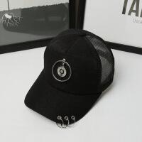 百搭男女士夏天金属挂件鸭舌遮阳防晒太阳棒球帽子LCQ 可调节