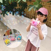 2018夏季新款男女童宝宝音乐伴奏泡泡机出游拉风相机闪光儿童玩具