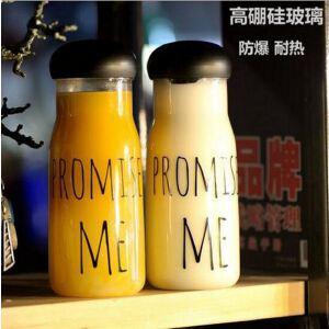 韩国创意promise me权志龙GD同款玻璃杯耐热时尚潮流男女水杯子
