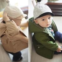 女婴儿衣服冬季0岁5个月3男宝宝连帽上衣1新生儿女童外套秋季冬装