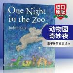 动物园奇妙夜英文原版绘本 One Night in the Zoo 常青藤爸爸推荐 亲子睡前图画故事书 进口英语书籍可