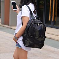 背包女双肩韩版新款牛津布帆布旅行包休闲百搭大容量学生书包 迷彩色