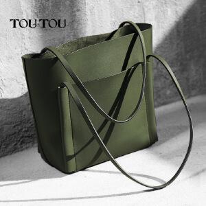 toutou2017新潮款韩版女包托特包单肩包简约大气百搭大容量大包包