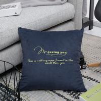 简约现代北欧纯色沙发垫床头靠腰靠垫客厅抱枕靠枕套靠背靠包含芯