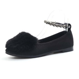 WARORWAR新品YM32-930冬季韩版平底舒适女士毛毛单鞋