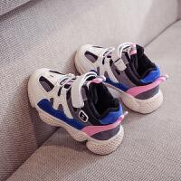 儿童运动鞋女孩冬季休闲跑步鞋小学生白色男童老爹棉鞋潮 粉色 收藏加购优先发货