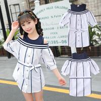亲子装夏季母女裙子套装 韩版潮连衣裙短袖t恤洋气薄款