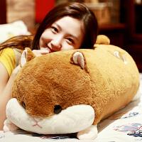 仓鼠娃娃公仔毛绒玩具龙猫抱枕长条枕床上玩偶可爱女孩生日礼物
