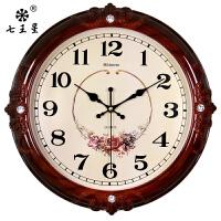 钟表挂钟客厅简欧式时尚个性创意电子石英钟家用静音时钟挂表墙上
