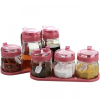 厨房用品 调料盒 套装 玻璃调味罐 调味盒 调料瓶 盐罐糖罐调料罐