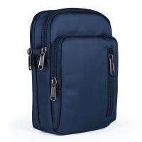户外腰包男士穿皮带手机包6.8寸多功能挂包旅行单肩斜挎运动腰包 宝蓝色