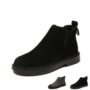 WARORWAR新品YM155-m913秋冬欧美平底舒适女士靴子短靴