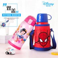 迪士尼儿童保温杯防摔小学生两用不锈钢带吸管幼儿园宝宝水杯水壶