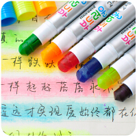 韩国创意慕娜美 6色旋转记号笔蜡笔 6013口红式固体果冻荧光笔 标记笔记号笔划重点涂鸦笔