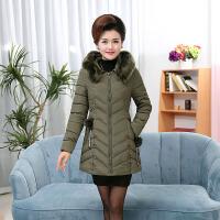 中老年女装冬季40-50岁加厚中长款中年妈妈羽绒棉衣外套2018新款