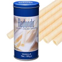 印度尼西亚进口 Redondo 瑞丹多威化卷心酥 3罐装 多种口味可选 注心饼干蛋卷点心零食
