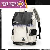 新款双肩包男女士背包休闲韩版时尚潮流旅行包电脑大容量学生书包皮防水耐磨包包