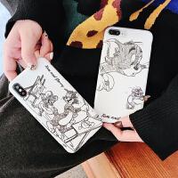 小米8手机壳全包边8se小米6x潮6六软硅胶min2s个性创意max3磨砂套屏幕探索版可爱卡通素描猫 小米8 画画猫和