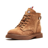 WARORWAR法国新品YGM1-A818-2秋冬欧美牛皮真皮低跟休闲女鞋潮流时尚潮鞋百搭潮牌女靴靴子马丁靴女