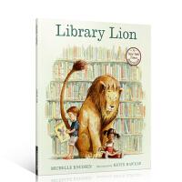 【全场300减100】英文原版书绘本 百本Library Lion 图书馆狮子平装 美国进口 4-8岁启蒙儿童学习英语正