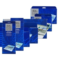 温莎牛顿歌文固体水彩颜料12色24色45色铁盒全块半块水彩套装