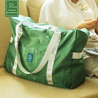 可折�B旅行包大容量 手提旅行袋 收�{袋旅游行李包可套行李箱�p便 大