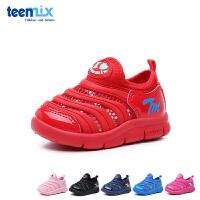 百丽天美意teenmix童鞋18新款婴幼童学步鞋毛毛虫儿童鞋夏款宝宝鞋透气单网儿童运动鞋(0-4岁可选) DX6907