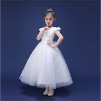 儿童婚纱公主裙韩版花童礼服生日长款钢琴表演女童礼服公主裙春季3055