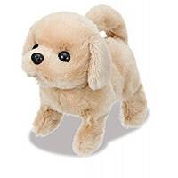 现货日本可爱电动毛绒狗会叫会走电动玩具狗仿真狗 送狗绳狗铃电池