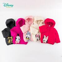 【2件3折到手价:125】迪士尼Disney童装 女童连帽羽绒外套冬季新品轻盈保暖羽绒服米妮卡通印花外衣194S114