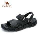 camel  骆驼 2018夏季商务时尚牛皮两穿凉拖鞋日常休闲度假柔软拖鞋