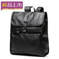 2018男士双肩包时尚潮流皮包商务休闲旅行电脑背包大学生韩版书包