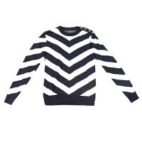 C系列潮牌新款秋英伦风条纹金属扣毛衣7NZ033剪标男装