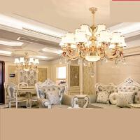 欧式吊灯客厅吊灯简欧餐厅吊灯奢华大气水晶灯卧室灯温馨灯饰灯具n6z