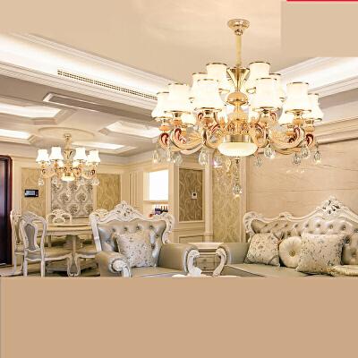 欧式吊灯客厅吊灯简欧餐厅吊灯奢华大气水晶灯卧室灯温馨灯饰灯具n6z 奢华品质