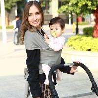 婴儿背巾宝宝背带前抱式包裹式多功能 女宝宝原单瑕疵 颜色随机