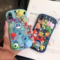 卡通怪兽大学苹果xs max手机壳立体硅胶套iphone7/8plus软壳6s弧形iphonex保护 苹果X/Xs 弧