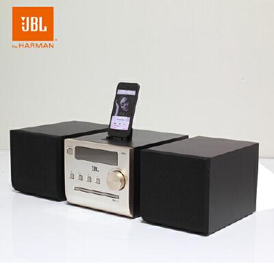 JBL MS502无线蓝牙CD组合音响 多媒体桌面HiFi音箱 家电自营  香槟金色