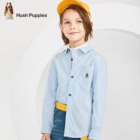 【秒杀价: 99元】暇步士童装春季新款男童长袖衬衫时尚经典小清新竖条纹衬衫儿童衬衫