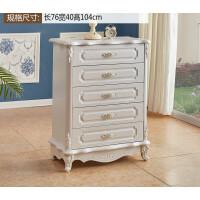 欧式斗柜实木储物收纳柜法式五斗橱多功能卧室吸膜组合抽屉柜 组装